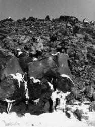 Камчатка, на лавовом потоке Авачинского вулкана