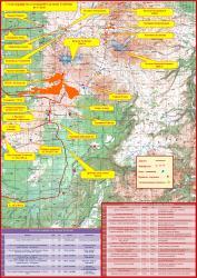 Карта-схема туристских маршрутов и экскурсий к действующему вулкану Толбачик на Камчатке