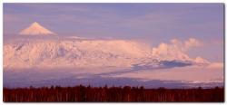 Извержение вулкана Толбачик на полуострове Камчатка