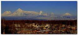 Вулкан Толбачик на полуострове Камчатка