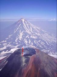 Камчатка, лавовая пробка в кратере Авачи