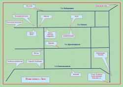 План-схема села Лазо Мильсковского района Камчатского края