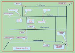 План схема села Лазо на Камчатке
