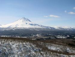 Камчатка, вулкан Кизимен, снимок сделан с вертолета