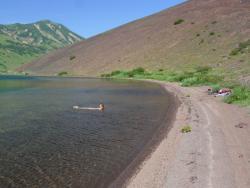 Озеро Зеленое на полуострове Камчатка
