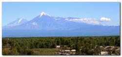 Ключевская группа вулканов на полуострове Камчатка