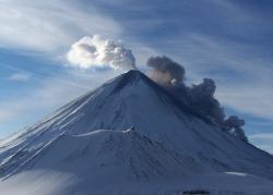Полуостров Камчатка, извержение Ключевскоговулкана