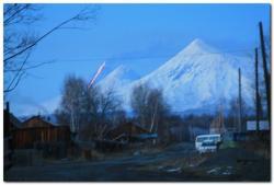 Лавовый поток вулкана Ключевская сопка на Камчатке