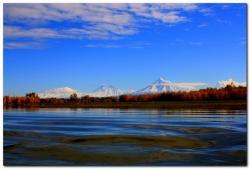 Река Камчатка, вулканы Ключевской группы