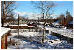 Зима в селе Лазо на Камчатке