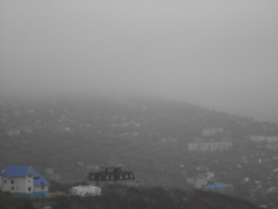 Петропавловск-Камчатский, Мишенная сопка в тумане