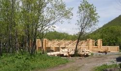 Строительство этнодеревни в центре города Петропавловска-Камчатского