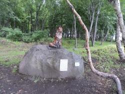 Скульптура лисы-огневки