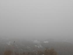 Туманное утро в Петропавловске-Камчатском