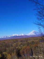 Весенний пейзаж полуострова Камчатка